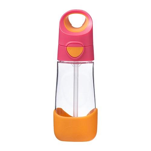 [비박스] 원터치빨대컵-오렌지핑크