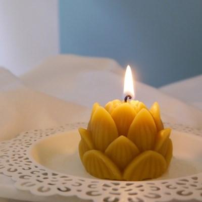 [Honey Bees Candle] 연꽃 밀랍초