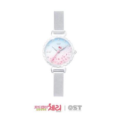 [카드캡터체리XOST] 크로우카드 벚꽃 메쉬시계 OTW119301TSS