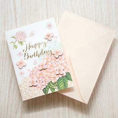 디원 핑크수국 카드(YD25)