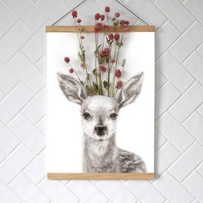 꽃을 담는 포스터 플라워포켓 동물 시리즈