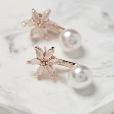 진주 벚꽃 귀걸이
