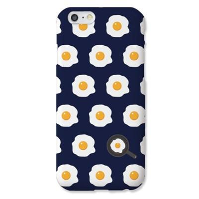 [봉봉] 계란후라이 패턴 네이비 하드 케이스_(2216394)