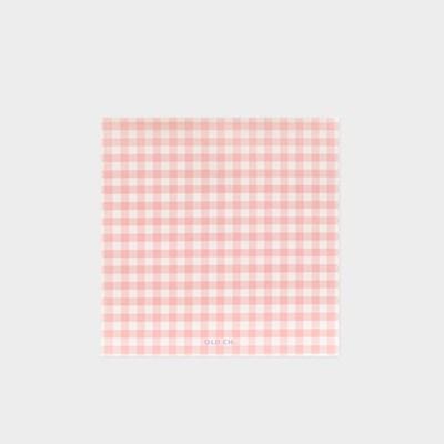 GINGHAM MEMO PAD - Pink