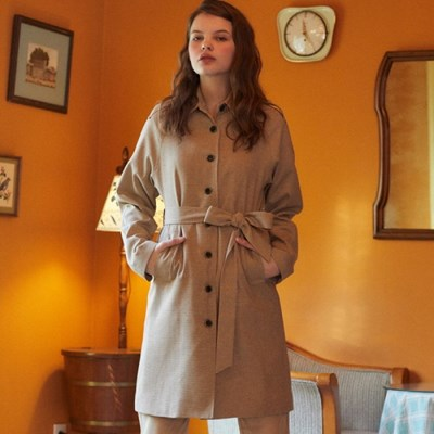 DE SINGLE TRENCH COAT(BROWN)_(3962141)
