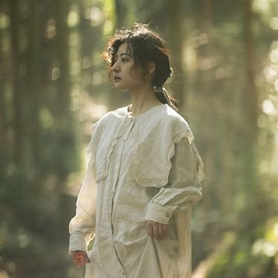 모네 린넨 케이프 드레스 : Monet linen cape dress