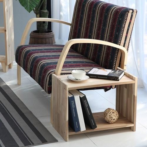 쇼파테이블 미니협탁 침대 다용도 사이드테이블(아카시아)