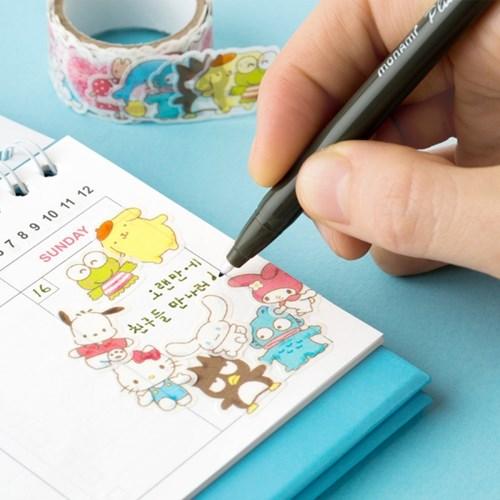 sanrio 캐릭터 마스킹 롤 스티커