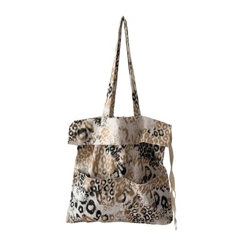 reopard shirring bag