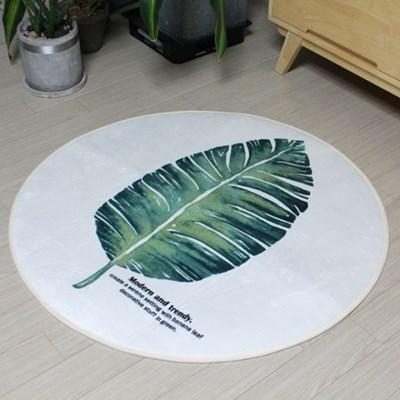 나뭇잎 원형 소프트 러그