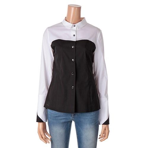 [제이비리파인] 블랙 앤 화이트 슬림 셔츠