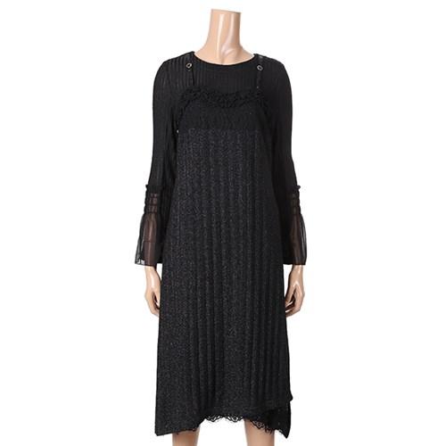 [제이비리파인] 슬립 레이어드 시스루 드레스