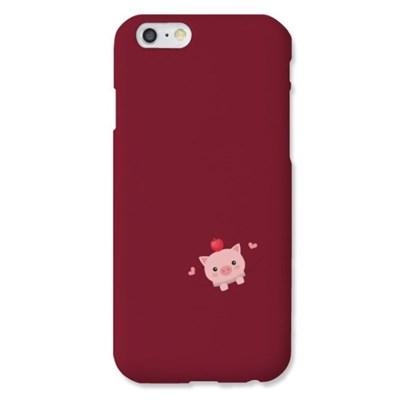 [봉봉] 포켓 사과 돼지 딥레드 하드 케이스_(2219053)