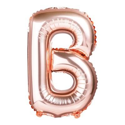 [원팩] 알파벳 은박풍선 소 로즈골드 B