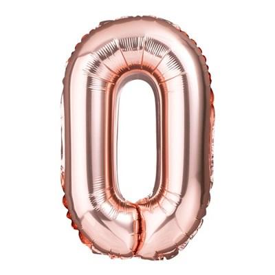 [원팩] 알파벳 은박풍선 소 로즈골드 O