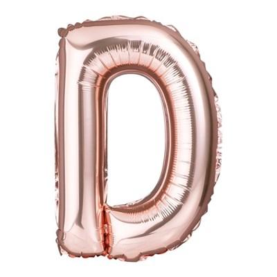 [원팩] 알파벳 은박풍선 소 로즈골드 D