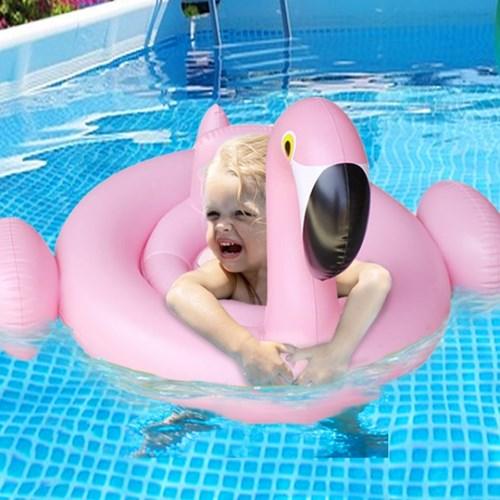 핑크 플라밍고 보행기 튜브