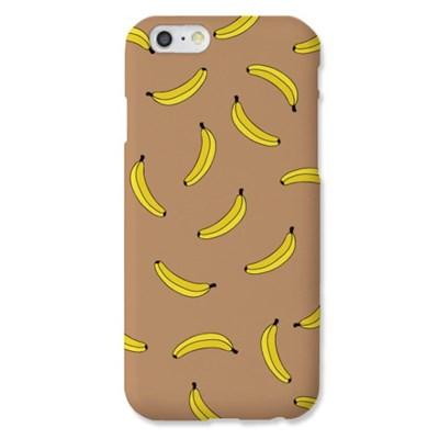 [봉봉] 바나나 패턴 카멜 하드 케이스_(2226899)