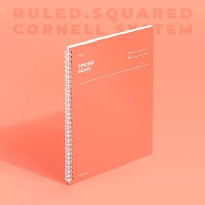 스프링북 - 리빙코랄 (룰드/스퀘어드/코넬시스템) 1EA