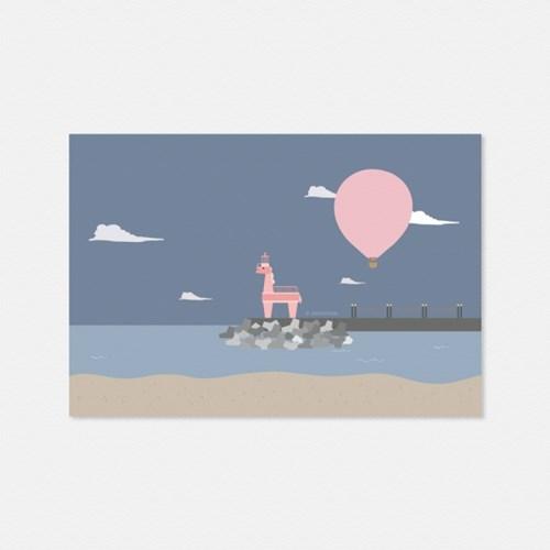 열기구여행 이호테우 해변의 밤 엽서
