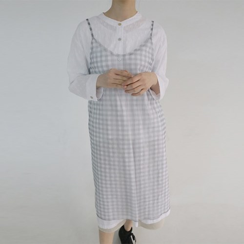gingham check dress (2colors)_(1188422)