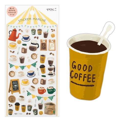 Sticker Marche - Coffee