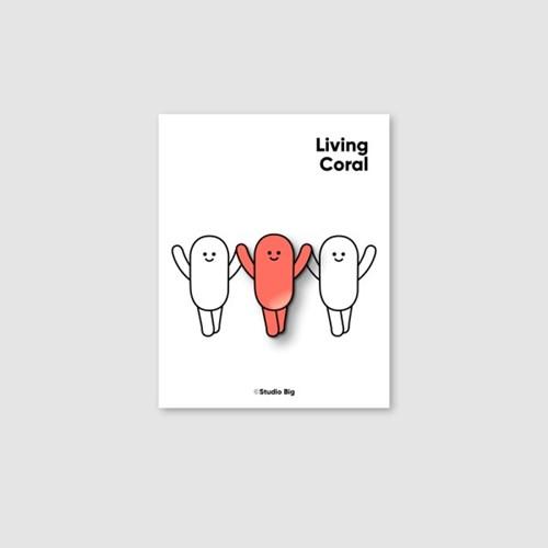 [핀뱃지] 스튜디오빅 리빙코랄(Living Coral) 뱃지