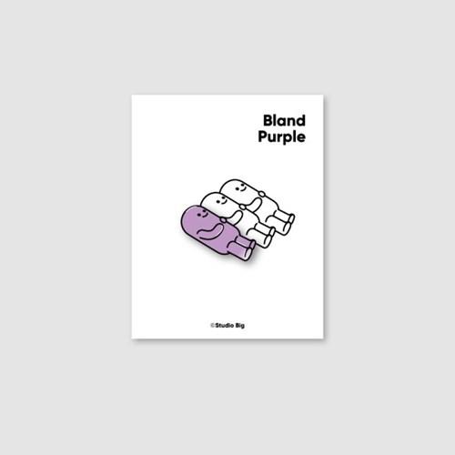 [핀뱃지] 스튜디오빅 싱거운 퍼플(Bland Purple) 뱃지