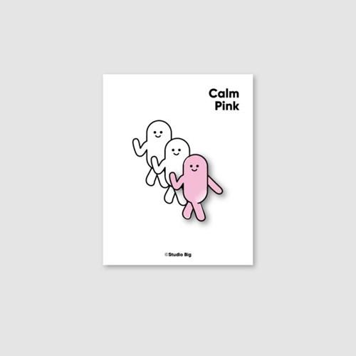 [핀뱃지] 스튜디오빅 침착한 핑크(Calm Pink) 뱃지