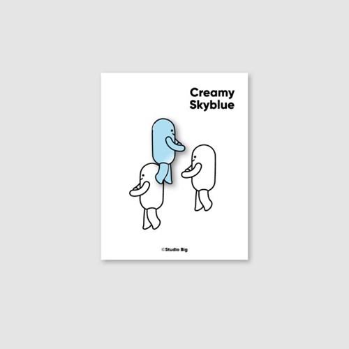 [핀뱃지] 스튜디오빅 크리미 스카이블루(Creamy SkyBlue) 뱃지