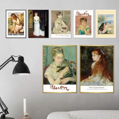 명화 르누아르 여인 시리즈 미니 포스터