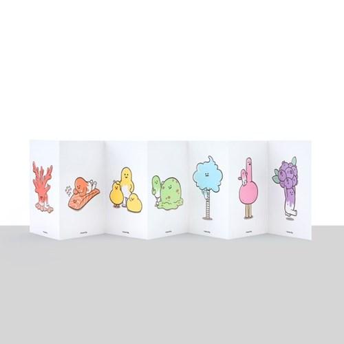 [엽서세트] 빅과 컬러오브제 7종 (아코디언형 접지)