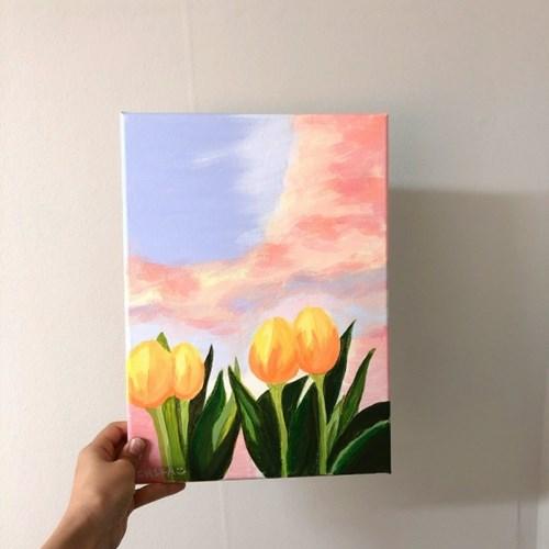 [텐텐클래스] (홍대) 살롱씨와 함께하는 캔버스 아크릴화
