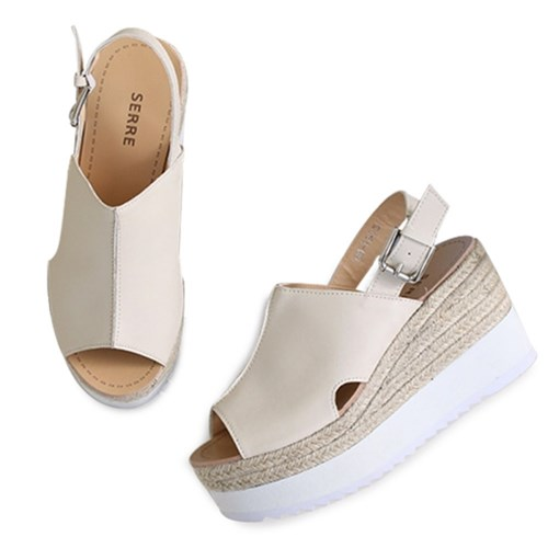 kami et muse White outsole espadrille wedge sandals _KM19s107
