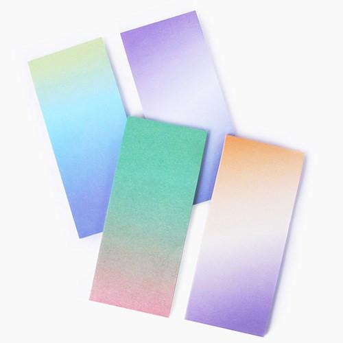 그라데이션 하늘빛 접착 메모지 4종 세트