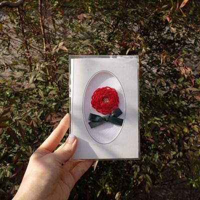 프랑스자수 카네이션 자수카드 DIY 키트