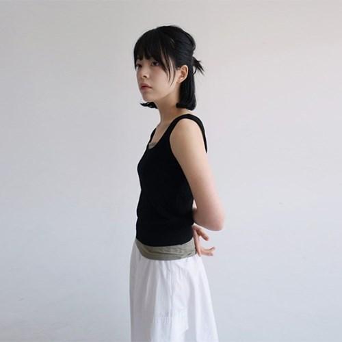 square neck khit sleeveless (4colors)_(1200379)