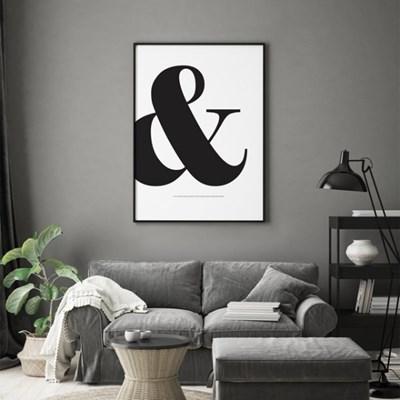 Ampersand 타이포그래피 액자 인테리어 그림 포스터