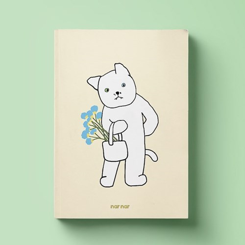 MEMO PAD - FLOWER CAT