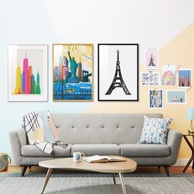 뉴욕 파리 런던 도시풍경 20종 일러스트 인테리어그림액자