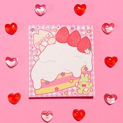케이크 한조각 메모패드
