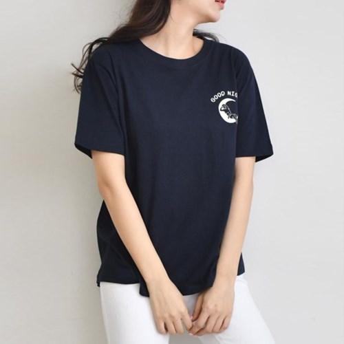 그레이썸 나이트 프린팅 기본 티셔츠