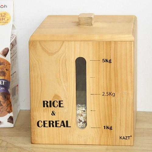 통원목엔틱쌀통5Kg