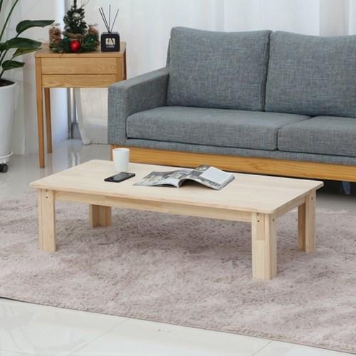 [잉카]자연주의 편백나무 원목 좌식 테이블 1200