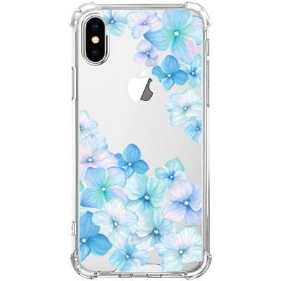 스키누 x  Flower 2019 투명케이스 블루 벚꽃 플라워