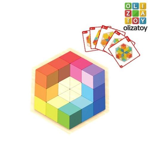 알록달록 원목 쓰리디 아트 퍼즐 유아 장난감 교구