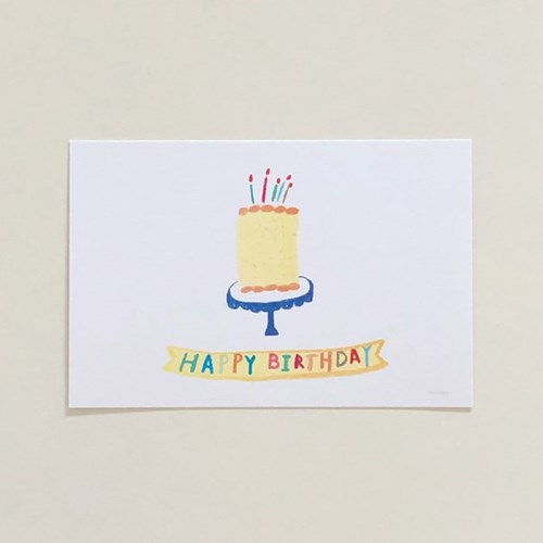 Happy birthday postcard (cake)