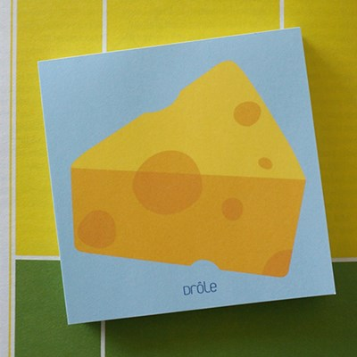 Apple and Cheese memo pad