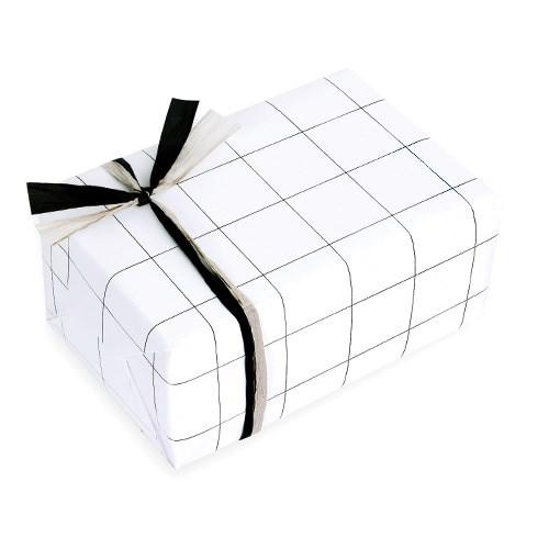 포장지 블랙 윈도우페인 체크 (1개)