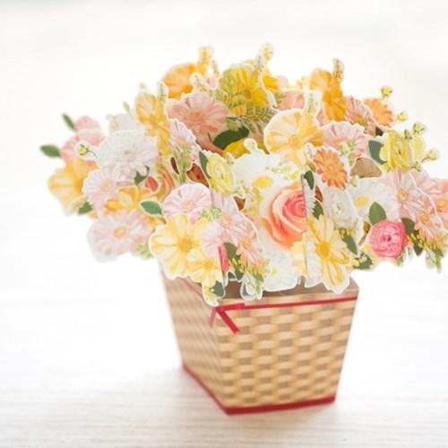 디원 가베라 꽃바구니 팝업카드 (JD02)